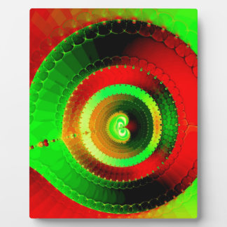 Green Red Circle Fractal Plaque