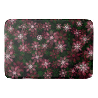 Green Red Floral Bathroom Mat