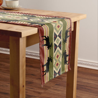 Green Red Ivory Ochre Ethnic Look Medium Table Runner