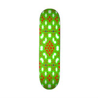 Green red pattern skate deck