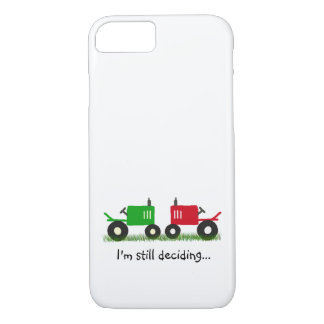 Green & Red Tractors iPhone/iPad Case