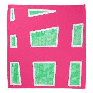 Green/Red Unique Geometric Pattern Bandana