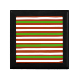 Green Red White Stripe Gift Box