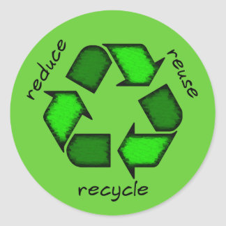 Green Reduce, Reuse, Recycle Sticker