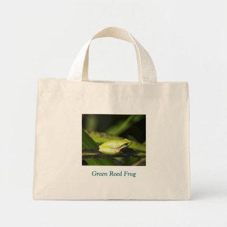 Green Reed Frog Mini Tote Bag