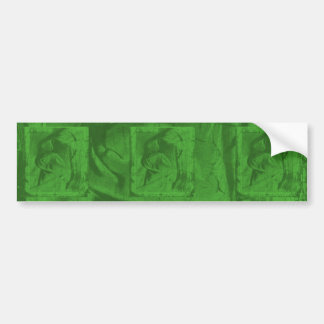 Green Reflections Bumper Sticker Car Bumper Sticker