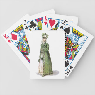 Green Regency Lady Bicycle Playing Cards
