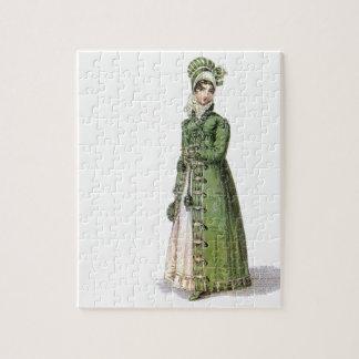 Green Regency Lady Puzzles