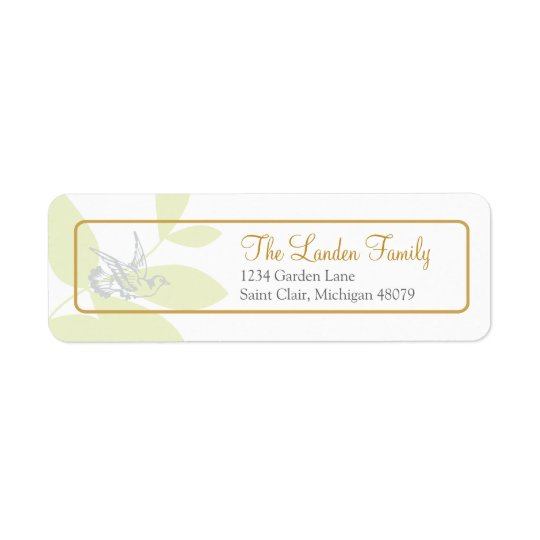 Green Religious Address Label