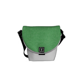 Green Retro Cardboard Colorful Texture Pattern Courier Bag