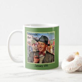 "Green Retro ""Celebrate Hat Day"" | January 15th Coffee Mug"