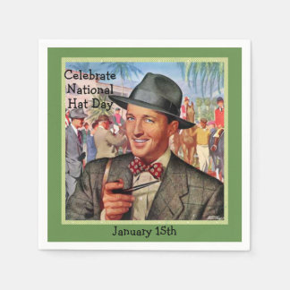 "Green Retro ""Celebrate Hat Day"" 