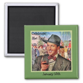 """Green Retro """"Celebrate Hat Day"""" 