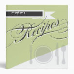 Green Retro Cookbook  - Recipe Binder
