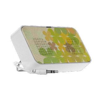 Green Retro Flower Design Portable Speakers