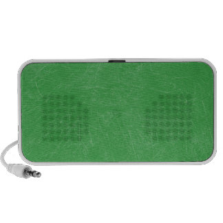 Green Retro Grunge Scratched Texture Notebook Speakers