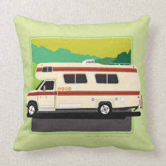 Green Retro Motorhome Pillow
