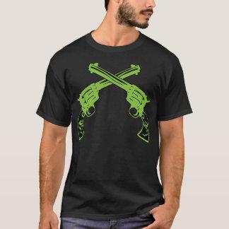 Green Retro Pistols T-Shirt