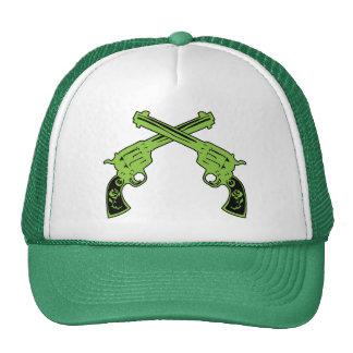Green Retro Pistols Trucker Hat