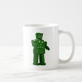 Green Retro Robot Coffee Mug