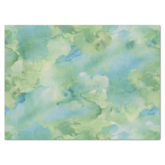 Green Retro Watercolor Texture Tissue Paper