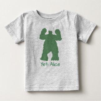Green Retro Yeti Illustration Baby T-Shirt