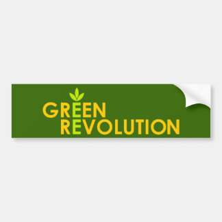 Green Revolution Bumper Sticker