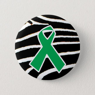 Green Ribbon 2 Inch Round Button