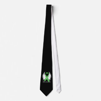 Green Ribbon Angel Wings Tie