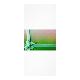 Green ribbon background rack card
