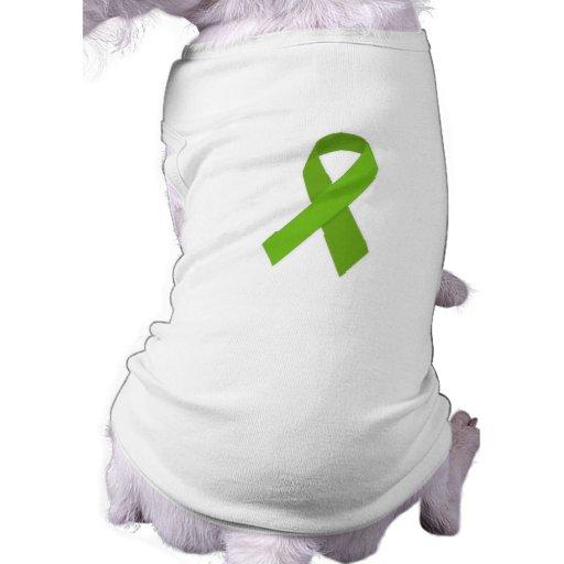 GREEN RIBBON CAUSES MEDICAL ILLNESSES CARING MOTIV DOG TEE