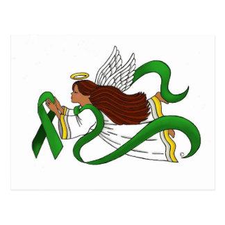 """Green Ribbon"" Ethnic Angel Postcards"