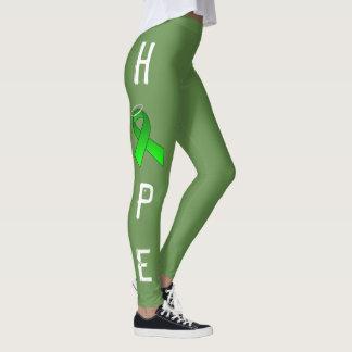 GREEN RIBBON HOPE LEGGINS by OASOTA Leggings