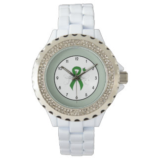 Green Ribbon with Butterfly Wrist Watches