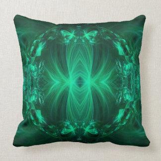 Green Ribbons Throw Pillow