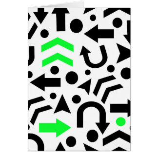 Green right direction card