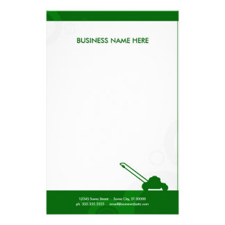 green rings mowing personalized stationery