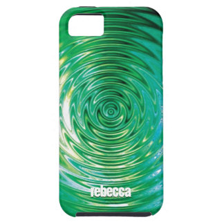 Green Ripple Effect iPhone 5 Case