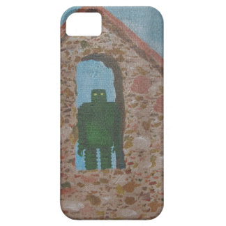 GREEN ROBOT RETRO matte finish by Jetpackcorps iPhone 5 Cover