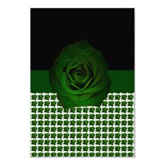 Green Rose Motif shown on a Card