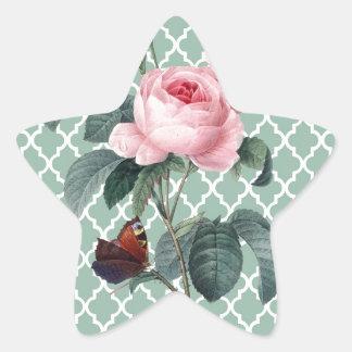 Green Rose Orient Star Sticker