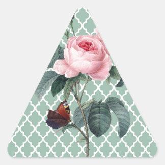 Green Rose Orient Triangle Sticker