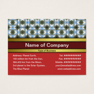 Green Round Bushes Grid Business Card