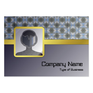 Green Round Bushes Grid Large Business Card