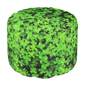 Green Round Hedge - Flower Surface Texture Pouf