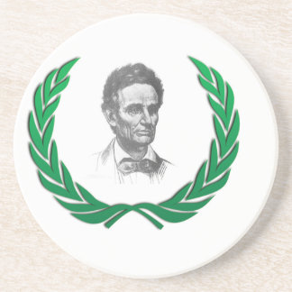 green round lincoln drink coasters