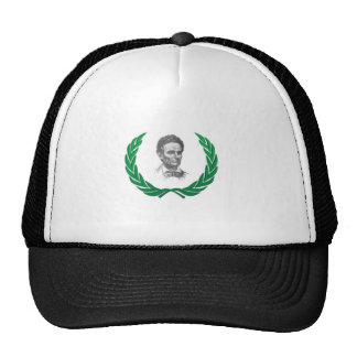 green round lincoln trucker hat