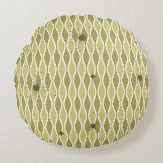 Green Round Mod Hourglass & Sputniks Pillow