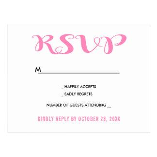 Green RSVP Leaves Boho Wedding Party Leaf Postcard