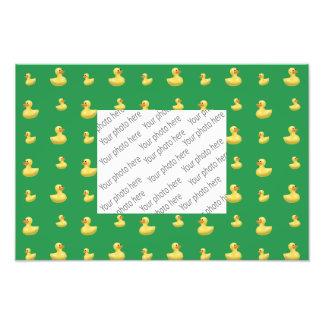 Green rubber duck pattern photograph